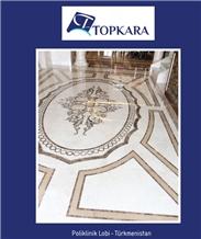 Bianco Corte Standart - Savana Pearl Marble Entrance Waterjet Floor
