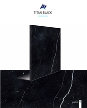 Titan Black Marble Slabs, Tiles