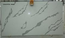 Quartz Calacutta Pearl Slabs, Engineered Stone