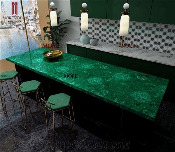 Moreroom Stone Precious Malachite Green For Kitchen Countertops