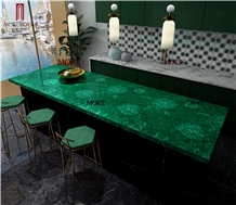 Moreroom Stone Precious Stone Malachite Green for Kitchen Countertops