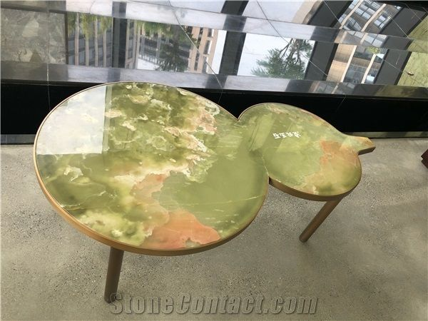 Pakistan Green Onyx Coffee Table Top From China Stonecontact