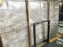 Alps Brown Marble Slabs, Dora Versace Gold Tundra Grey Marble