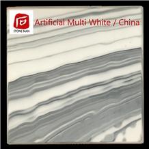 Artificial Multi White Stone