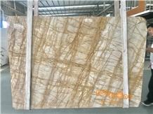 China Van Gogh Gold Emperor Marble Babylon Beige Polished Slabs Tiles