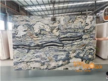 Chinese Fantasy Twilight Green Marble Lotus Green Slabs Tiles Polished