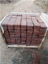 G666 Red Porphyry Tile, Paver, Flame, Split