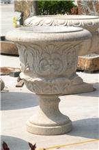 Garden Natural Stone Flower Pots Planter Pots