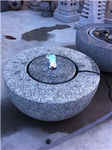 Natural Stone Garden Water Fountain with Led Light