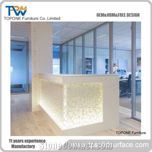 Surface Simple Design Used Reception Desk Salon Reception