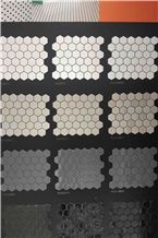 Hexagon Porcelain Mosaic Tile,Lantern Mosaic Tile