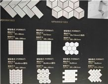 Marble Effect Mosaic Tile,Marble Look Ceramic Tile
