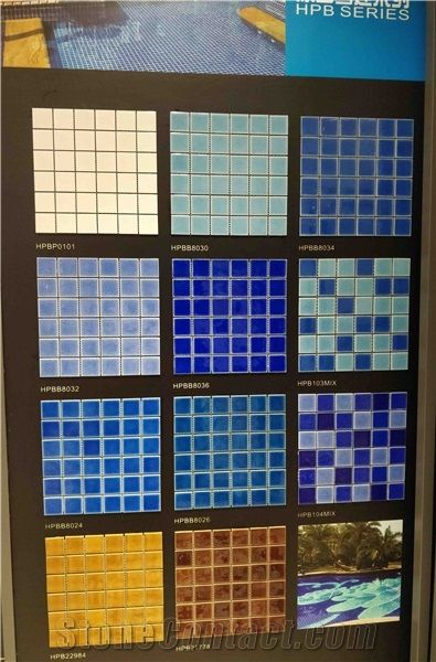 Swimming Pool Mosaic Tile, Blue Mosaic Tile, Pool Trims from ...