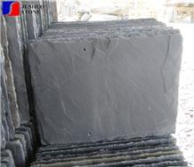 Black/Grey Slate Roof Arch Shape Tile Directly Offer Natural Split Top
