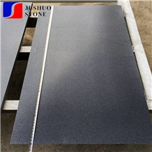 China Basalt Hainan Black Lava Stone Haikou Basalt Tiles Slabs Honed
