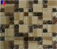 Glass Mosaic Pattern,Decorative Mosaic Tile for Bathroom Kitchen Wall