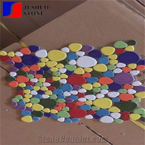 Irregular Mosaic Ceramic Tile Texture