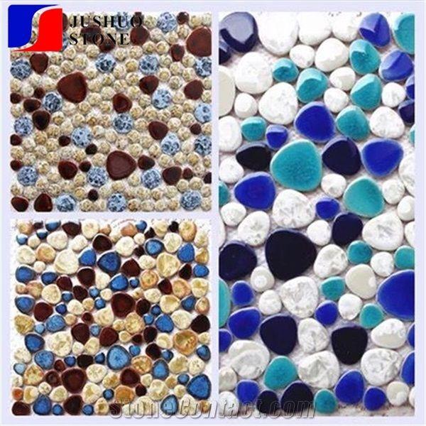Kitchen Backsplash Ceramic Tile Irregular Mosaic Texture