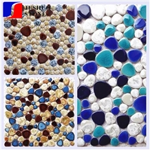Kitchen Backsplash Ceramic Tile Irregular Mosaic Texture Finishing