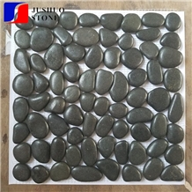 Mixed Black Pebble with Net