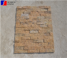 Natural Sesame Beige/Yellow Culture Slate Panel Wall Cladding Ledge