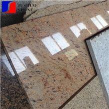 Orlando Granite Giallo Slab for Countertop/Island Top Kitchen Usage