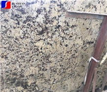 Polish Alaska Gold Granite,Alaska White Stone,Petrous Cream Tile Slab