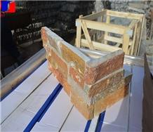 Split China Rusty Slate Culture Stone Walling Corner Stacked Bricks