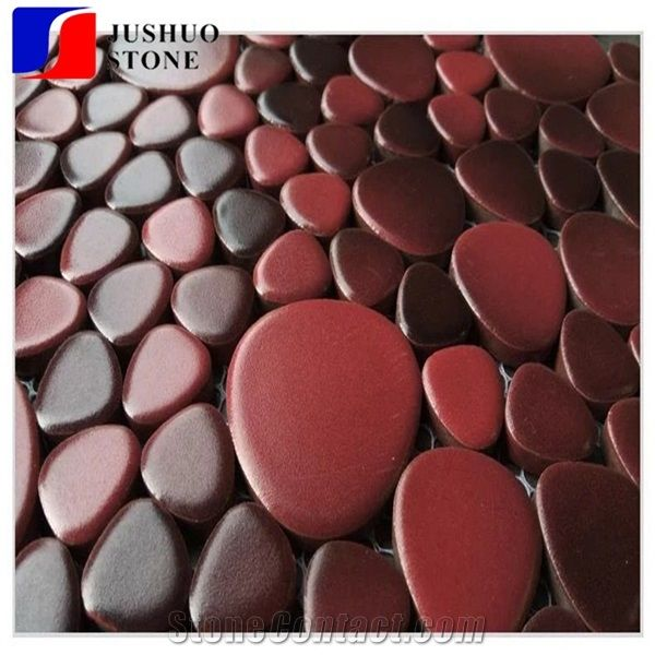 Unglazed Ceramic Tile Floor Multicolor Porcelain Red Kitchen ...