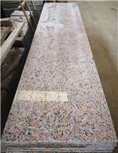 China Pink Porino G460 Polished Granite Slabs for Bath Kitchen Tops