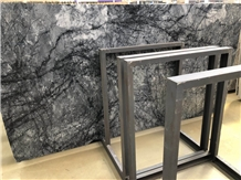 Black Ice Flower Marble Polished Slab/Tile/Cut to Size for Floor&Wall