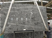 Rome Cloud Grey Marble Polished Slab/Tile/Cut to Size for Floor&Wall