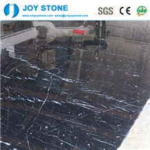 Cheap Price Polished Ice Black Nero Marquina Marble Big Slabs Tiles