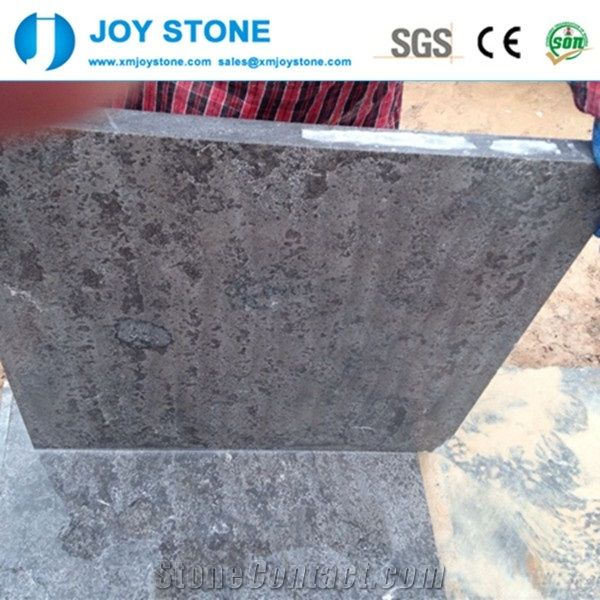 Flamed China Shandong Blue Stone White Limestone Floor Tile For Sale
