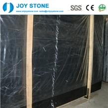 Whole Sale Polished China Nero Marquina Marble Slab Tile