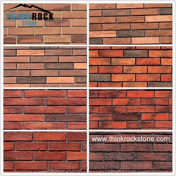 Antique Red Brick For Faux Wall Panels