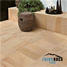 Beige Wood Sandstone Floor Tiles