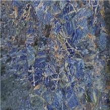 Bolivia Jingtai Dark Blue Sodalite Marble Slab Flooring Tile
