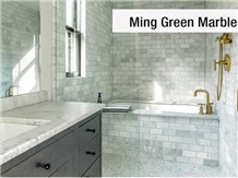 Ming Green Marble for Bathroom Design
