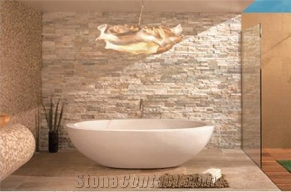 White Wall Stone Polishing Split Cultured Stone from China