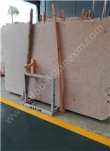 Jura Beige Limestone Slabs Tiles for Tv Set Cladding/Reception