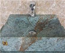 Luxury Blue Riff Green Marble Sinks Basins