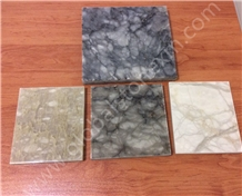 Translucent Transparent Iran Alabaster Beige/White/Grey Slabs Tiles