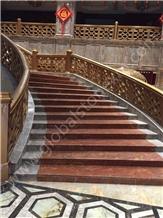Violet Gold Purple Luxury Marble Interior Stair Tread