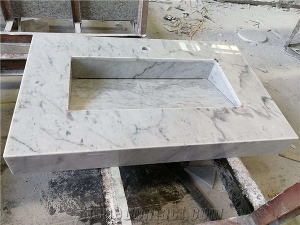 Custom Vanity Tops Bianco Carrara White Marble Bathroom Vanity Tops From China Stonecontact Com