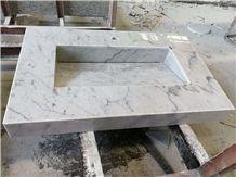 Custom Vanity Tops Bianco Carrara White Marble Bathroom Vanity Tops