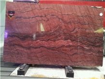 Revolution Fusion Fire Rosa Wave Fantasy Red Granite Quartzite Slabs