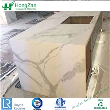 White Marble Countertop Honeycomb Panel Kitchen Tops