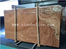 Yellow Wood Grain Marble Slab