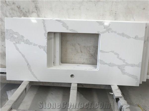 Calacatta White Quartz Kitchen Countertops,Bar Tops,Worktops from ...